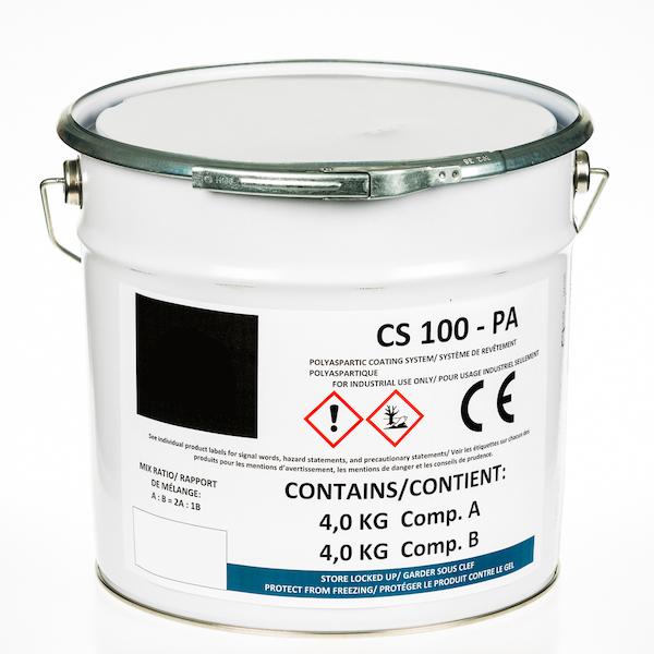 Couche de finition polyaspartique 80% de matières sèches CS 100 – PA